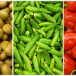 Collection of fruit and vegetable backgrounds — Stock Photo #7677078