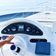 View of yacht cockpit on the deck. — Stock Photo #7677098
