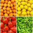 Collection of fruit and vegetable backgrounds - Стоковая фотография