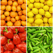 Collection of fruit and vegetable backgrounds - 图库照片