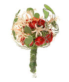 Wedding bouquet isolated on white. — Stock Photo
