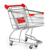 Shopping cart isolated on white — Stock Photo