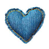 Corazón de san valentín los pantalones vaqueros. aislado en blanco. — Foto de Stock