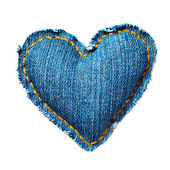 Valentine jeans heart. Isolated on white. — Stock Photo