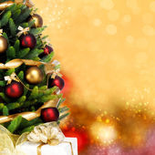 Decorated Christmas tree on white background — Zdjęcie stockowe