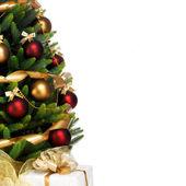 Decorazioni albero di natale su sfondo bianco — Foto Stock