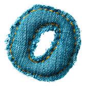 Handmade digit of jeans alphabet — Stock Photo