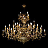 Chandelier isolated on black — Stock Photo