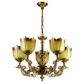 Vintage Chandelier isolated on white — Stock Photo