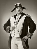 Studio shot of napoleon bonaparte, commit attack — Stock Photo