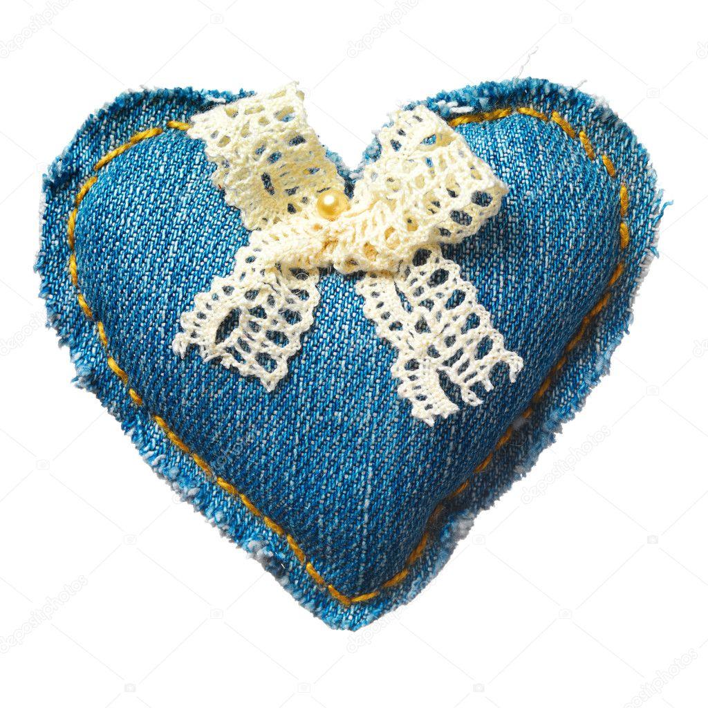 Сердца из джинсы своими руками