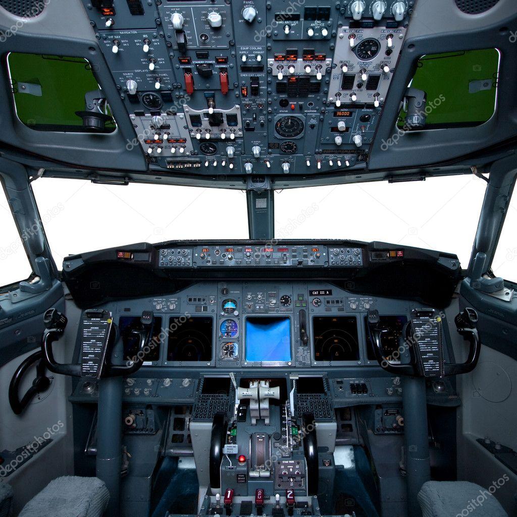 Int rieur de boeing vue du cockpit lint rieur de lavion for Interieur avion