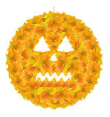 Halloween Pumpkin (Autumn Leaves) — Stock Photo