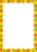 Autumn Leaf Frame A4(210x297mm) — Stock Photo
