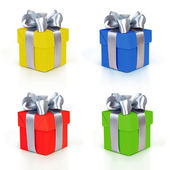 Color gift boxes collection — Stock Photo