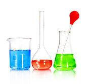 Zlewki i laboratoryjne — Zdjęcie stockowe