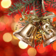 Golden Christmas tree decorations — Stock Photo #6780213