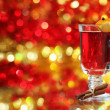 Royalty-Free Stock Photo: Mulled wine over Christmas decoration