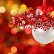 Christmas tree decorations on lights background — Stock Photo