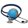 Stethoscope with globe — Stock Photo