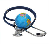 Stethoscope with globe — Stock Photo