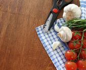 Sebze makas ile natürmort — Stok fotoğraf