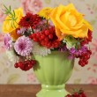 Bouquet of autumn flowers — Stock Photo #7708639