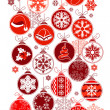 Royalty-Free Stock Vector Image: Christmas vertical seamless border with balls