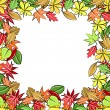 Royalty-Free Stock Vector Image: Blank frame made of autumn leaves