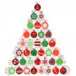 Christmas tree made of balls — Stock Vector