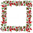 Blank Christmas frame with traditional symbols — Stock Vector