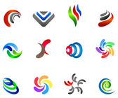 12 colorful vector symbols: (set 5) — Stock Vector
