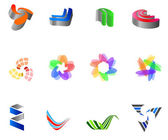12 colorful vector symbols: (set 8) — Stock Vector