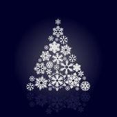 Boże narodzenie drzewo śniegu — Wektor stockowy