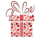 Gift box made of Christmas symbols — Stock Vector