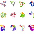 12 colorful vector symbols: (set 15) — Vector de stock  #6870311