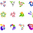 12 colorful vector symbols: (set 15) - Stock Vector