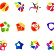 12 colorful vector symbols: (set 16) - Stock Vector