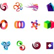12 colorful vector symbols: (set 19) — Stock Vector