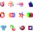 12 colorful vector symbols: (set 19) - Stock Vector
