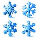 vektor weihnachten Schneeflocke icons — Stockvektor