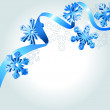 Abstract background wth snowflakes — Stock Vector