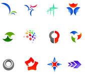 12 colorful vector symbols: (set 11) — Stock Vector