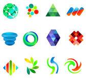 12 colorful vector symbols: (set 18) — Stock Vector