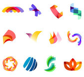 12 colorful vector symbols: (set 20) — Stockvector