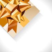 Caja de regalo y arco de oro grande — Vector de stock