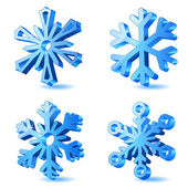 Vector christmas snowflake icons — Stock Vector