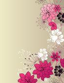 时尚花卉光背景 — 图库矢量图片