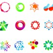 12 colorful vector symbols: (set 21) — Stock Vector