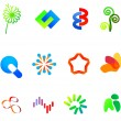 12 colorful vector symbols: (set 23) — Stock Vector